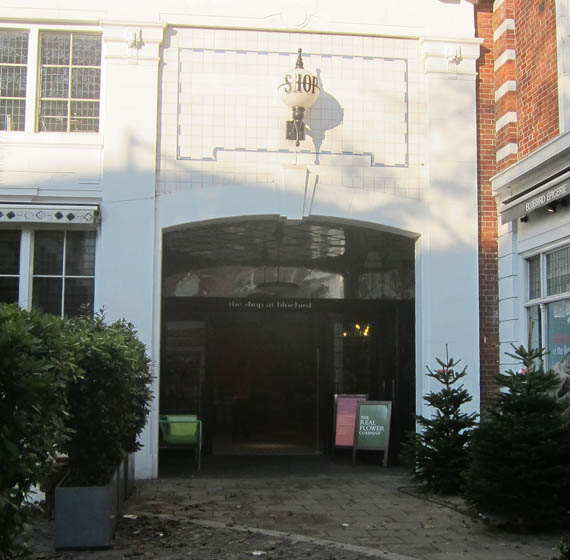 The Shop at Bluebird London Dec 2012