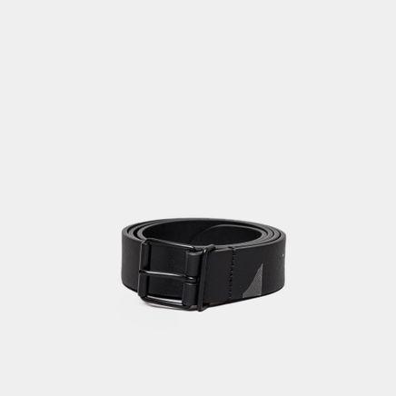 Mono Caviar Leather Belt Black