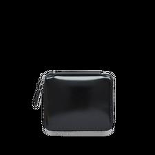 Comme des Garçons Wallet Full Zip Wallet -Mirror Inside - Silver