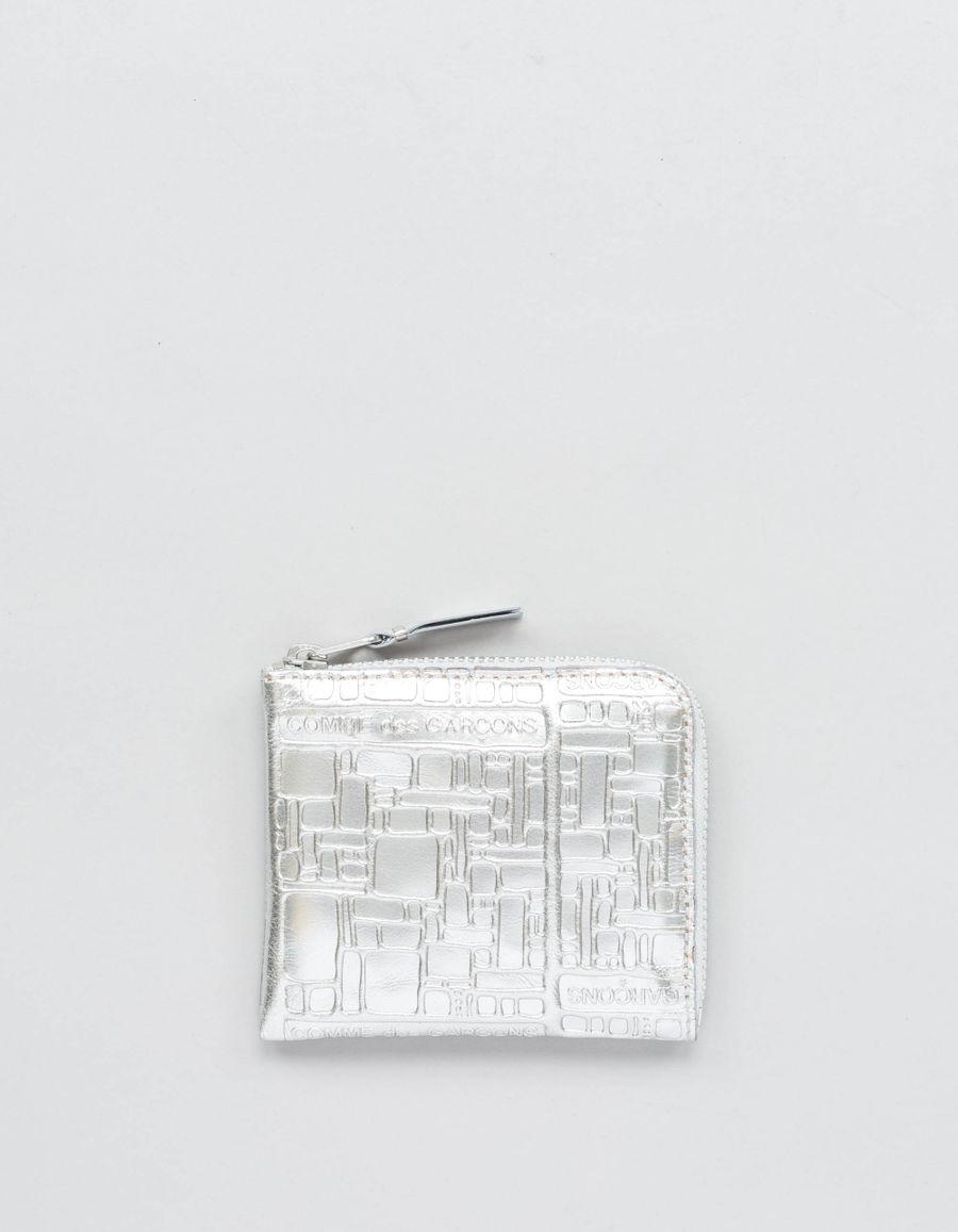 Comme des Garçons Wallet Half Zip Wallet - Logo