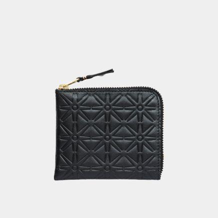 Half Zip Wallet - Stars
