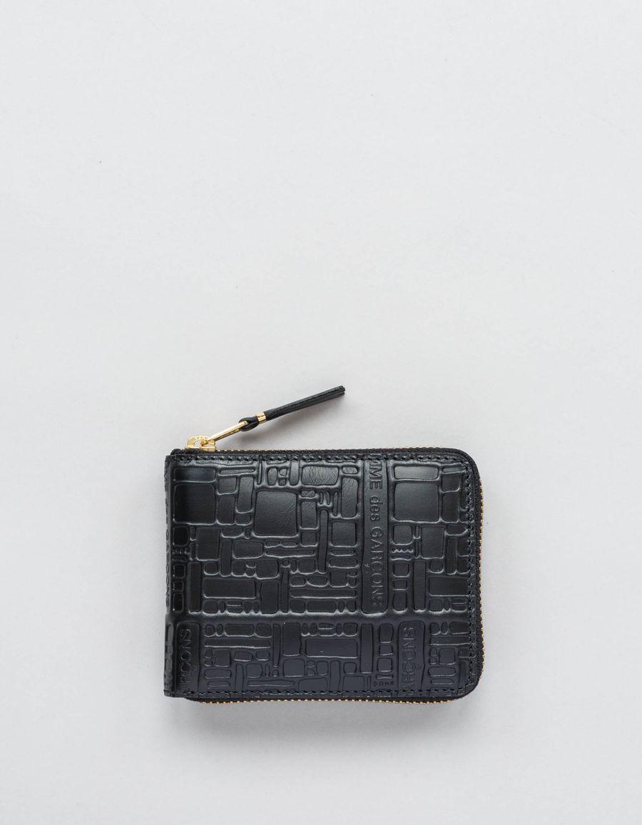 Comme des Garçons Wallet Full Zip Small Wallet - Logo