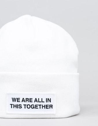 Cotton/Cashmere Logo Hat White