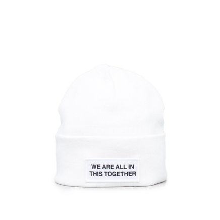 Cotton/Cashmere Logo Hat White