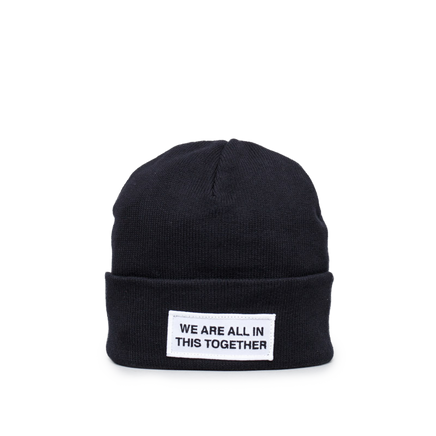 Cotton/Cashmere Logo Hat Black