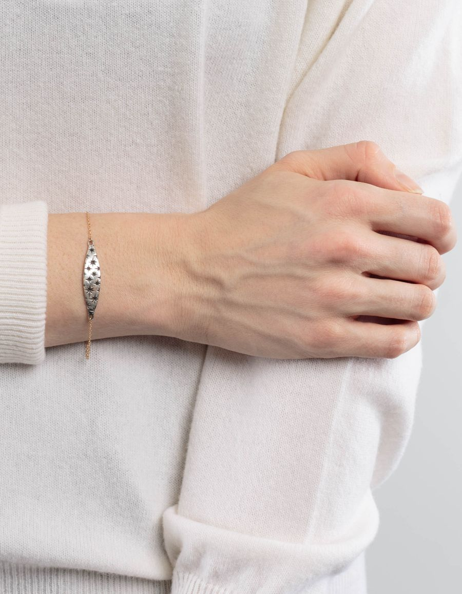 Laura Lee Silver Star I-D Bracelet