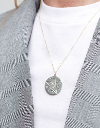 Reversible Luna Coin Necklace