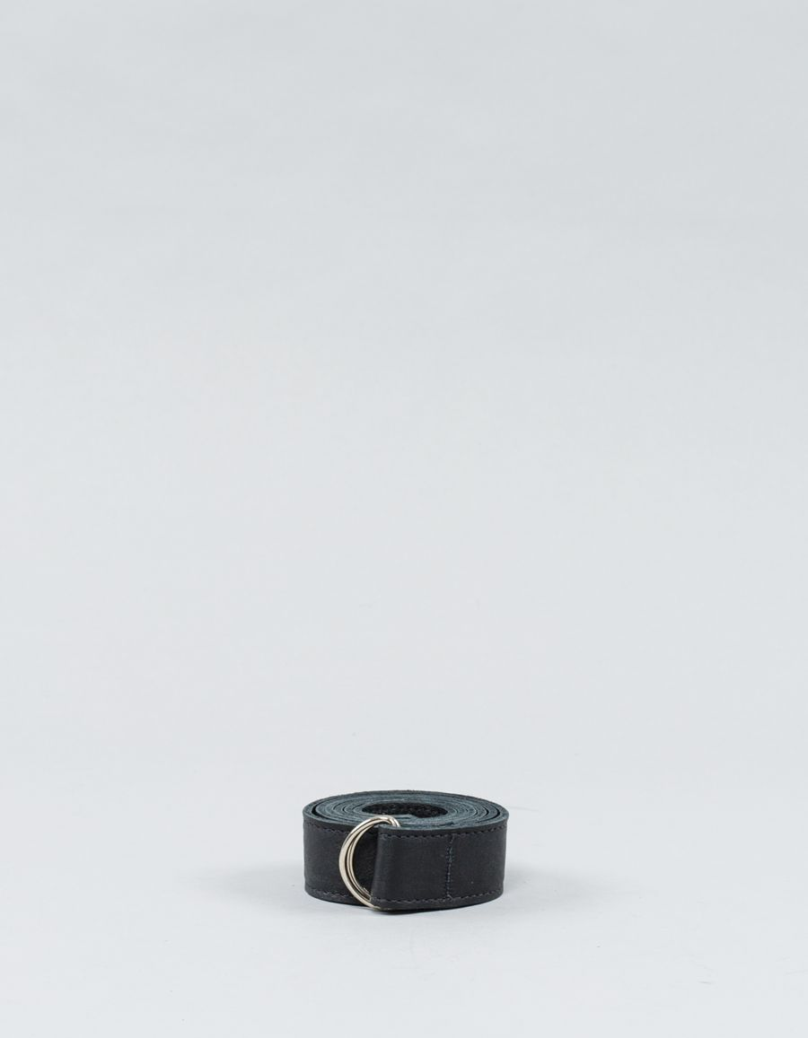 Clyde D-ring Belt Black Leather