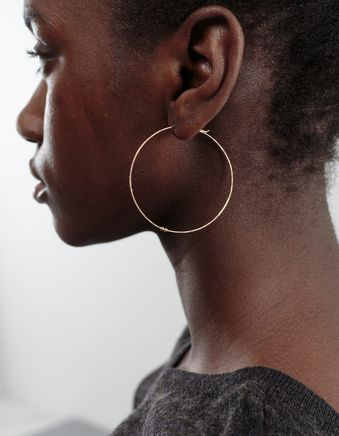 Large Hoop Earring Gold