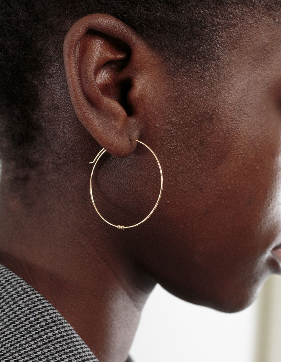 Medium Hoop Earring Gold