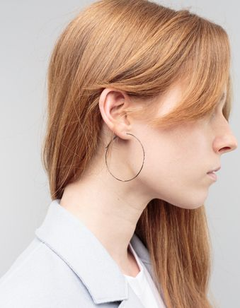 Large Hoop Earring Rodium