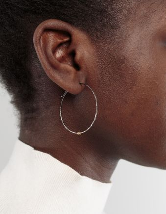 Medium Hoop Earring Rodium