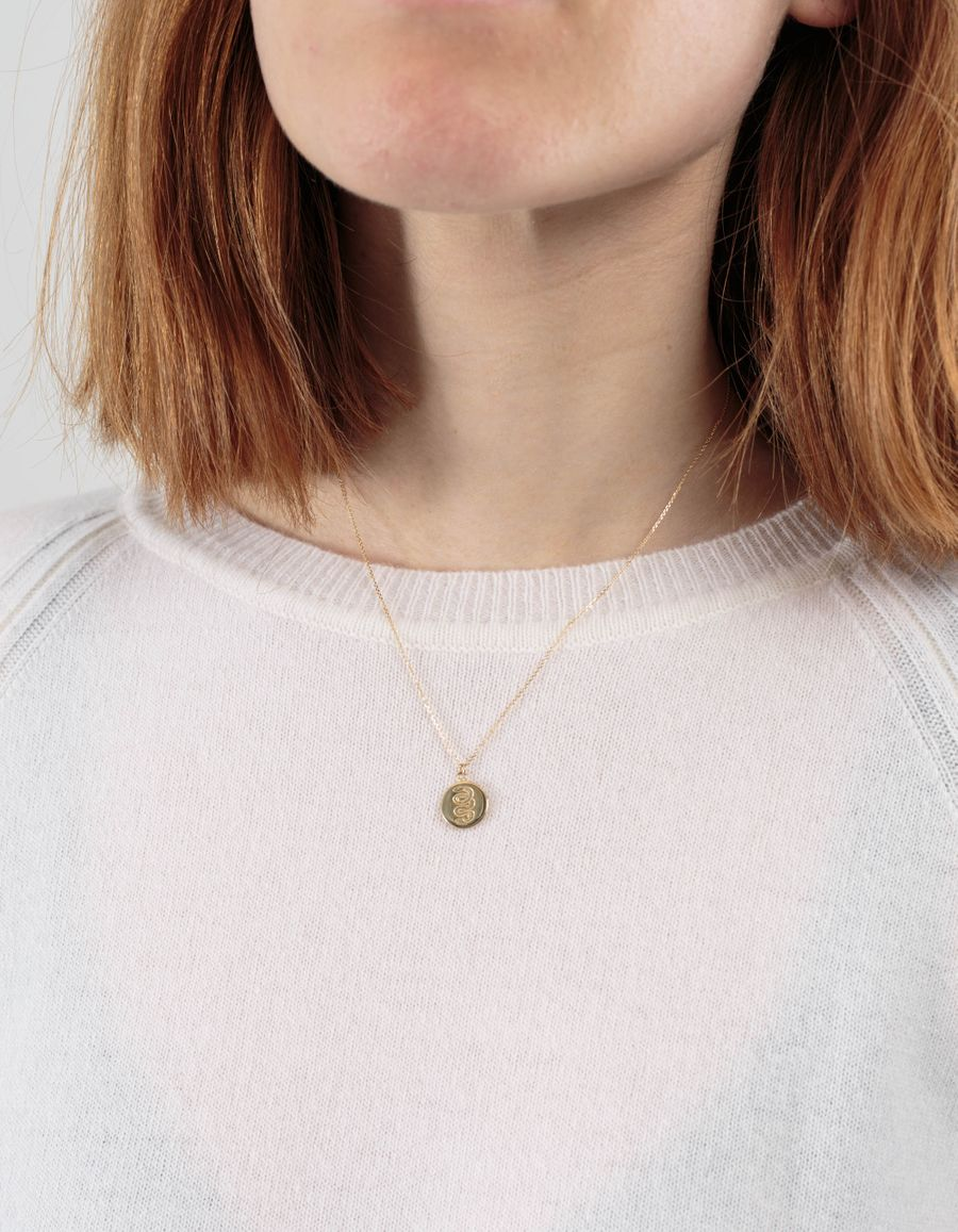 Laura Lee Reversible Snake Coin Necklace
