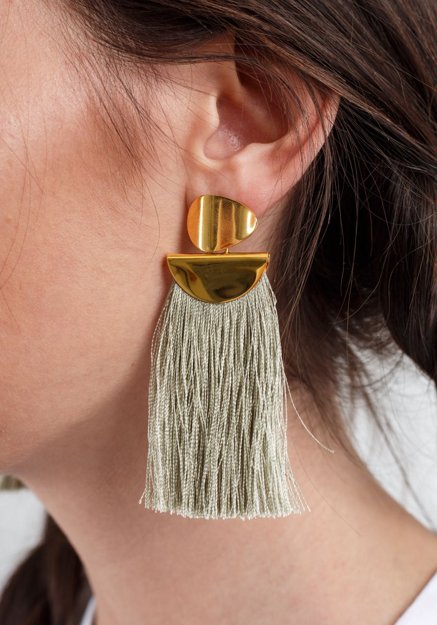 Lizzie Fortunato - Crater Fringe Earrings