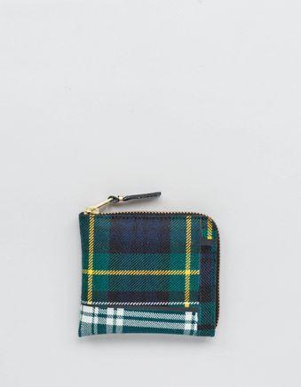 Half Zip Wallet - Tartan