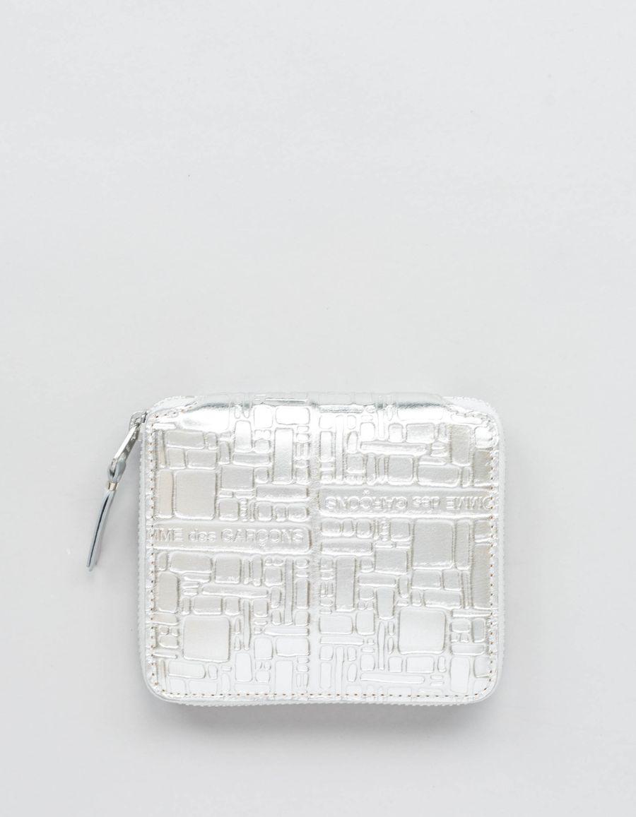 Comme des Garçons Wallet Full Zip Wallet - Logo