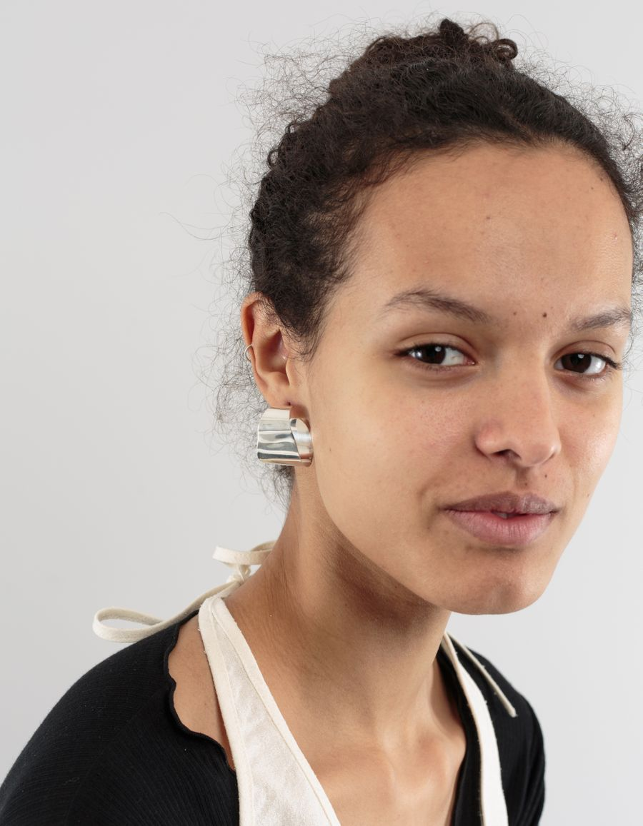 Cornelia Webb Slized Organic Hoop Earring