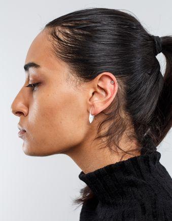 Hozho Flat Hoop Silver Earring