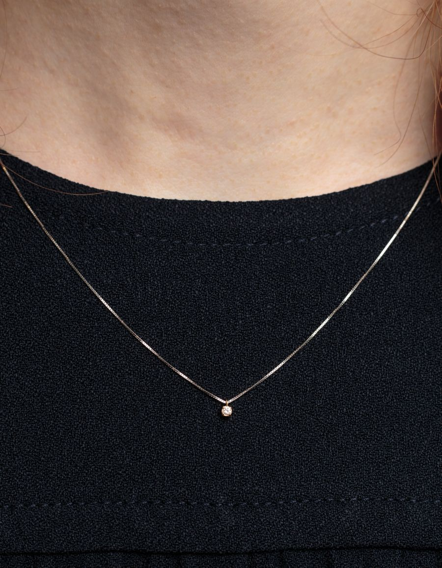Minibox Diamond Necklace