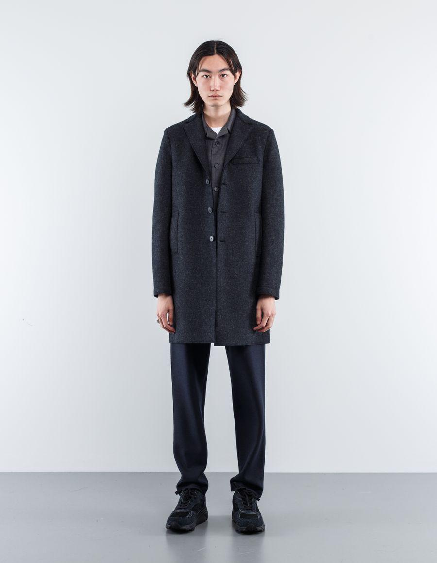 Harris Wharf London Boxy Pressed Wool Coat