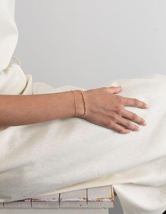 Goldpl. Pearl Double Bracelet