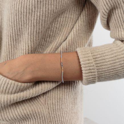 Pearl Bracelet Grey/Pink