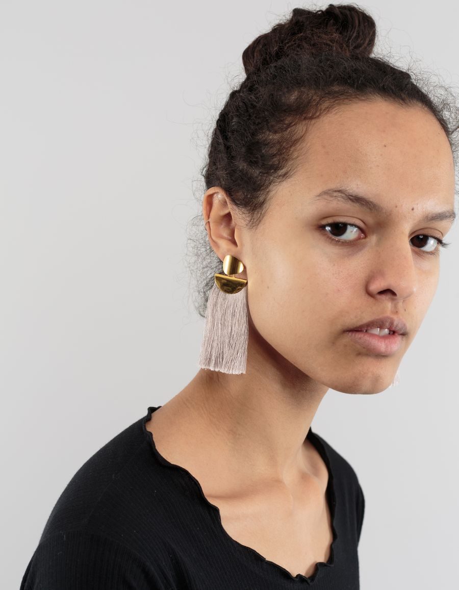 Lizzie Fortunato Crater Earrings Goldpl. Slate