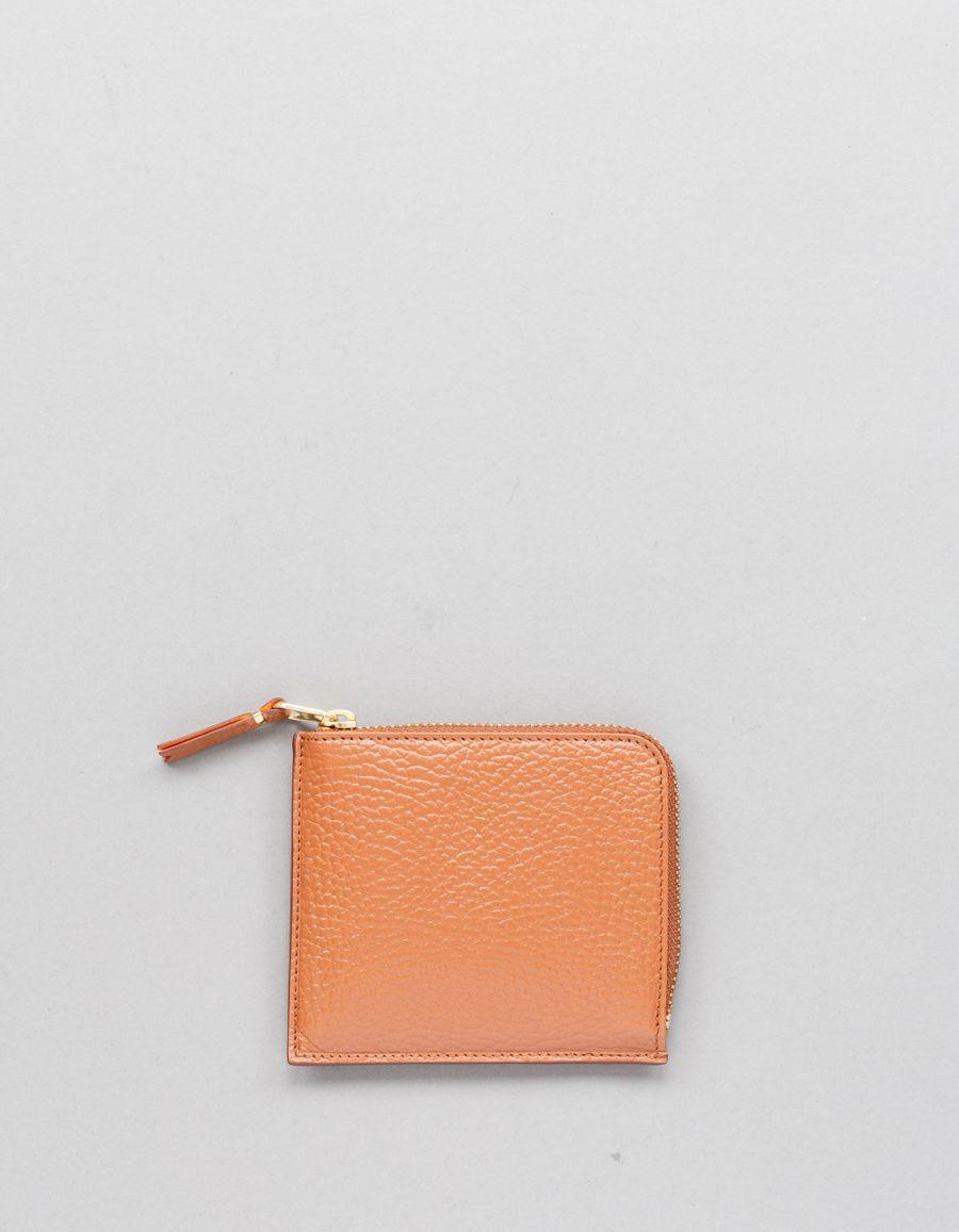 Comme des Garçons Wallet Half Zip Wallet -Colour Inside