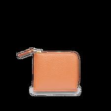 Comme des Garçons Wallet Half Zip Wallet -Colour Inside - Lt Brown