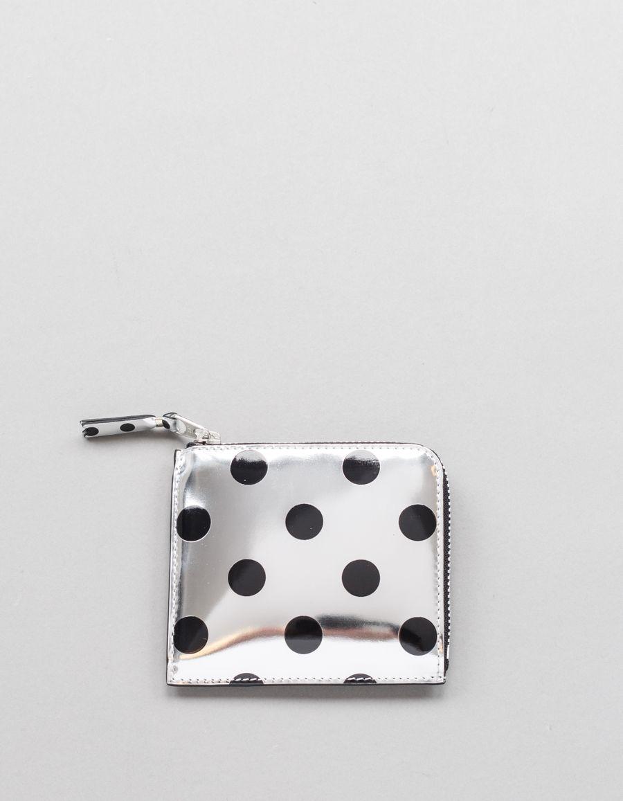 Comme des Garçons Wallet Half Zip Wallet - Optical Dot