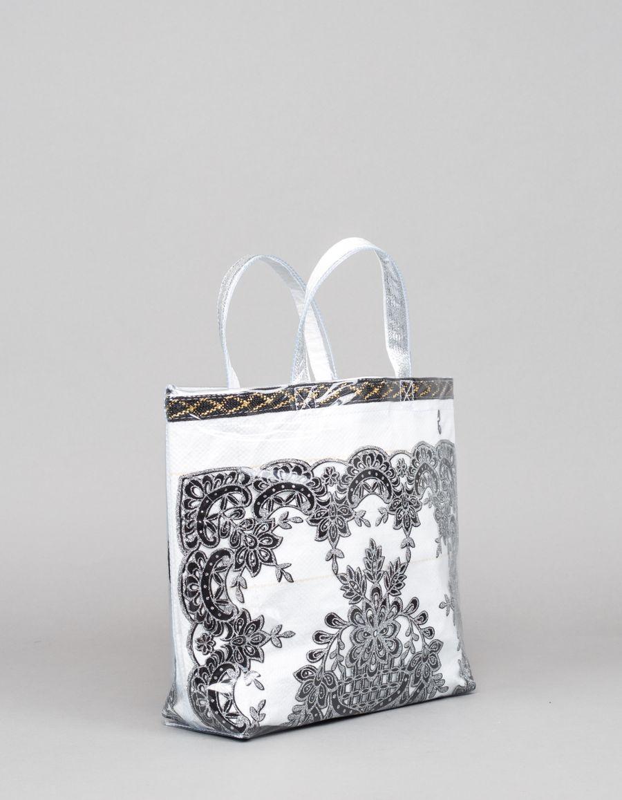Comme des Garçons Comme des Garçons Plastic Shopper Floral Sparkle