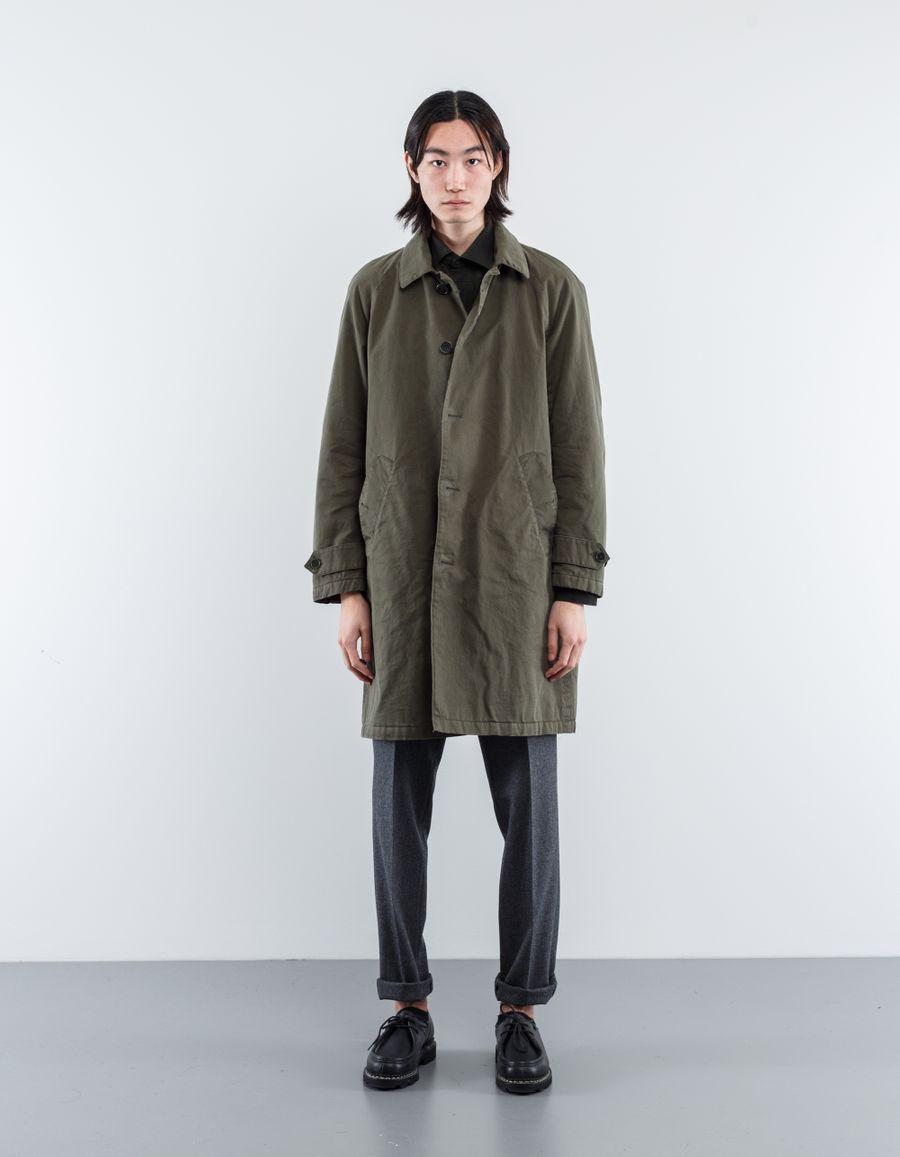 Aspesi Washed Cotton Raglan Coat