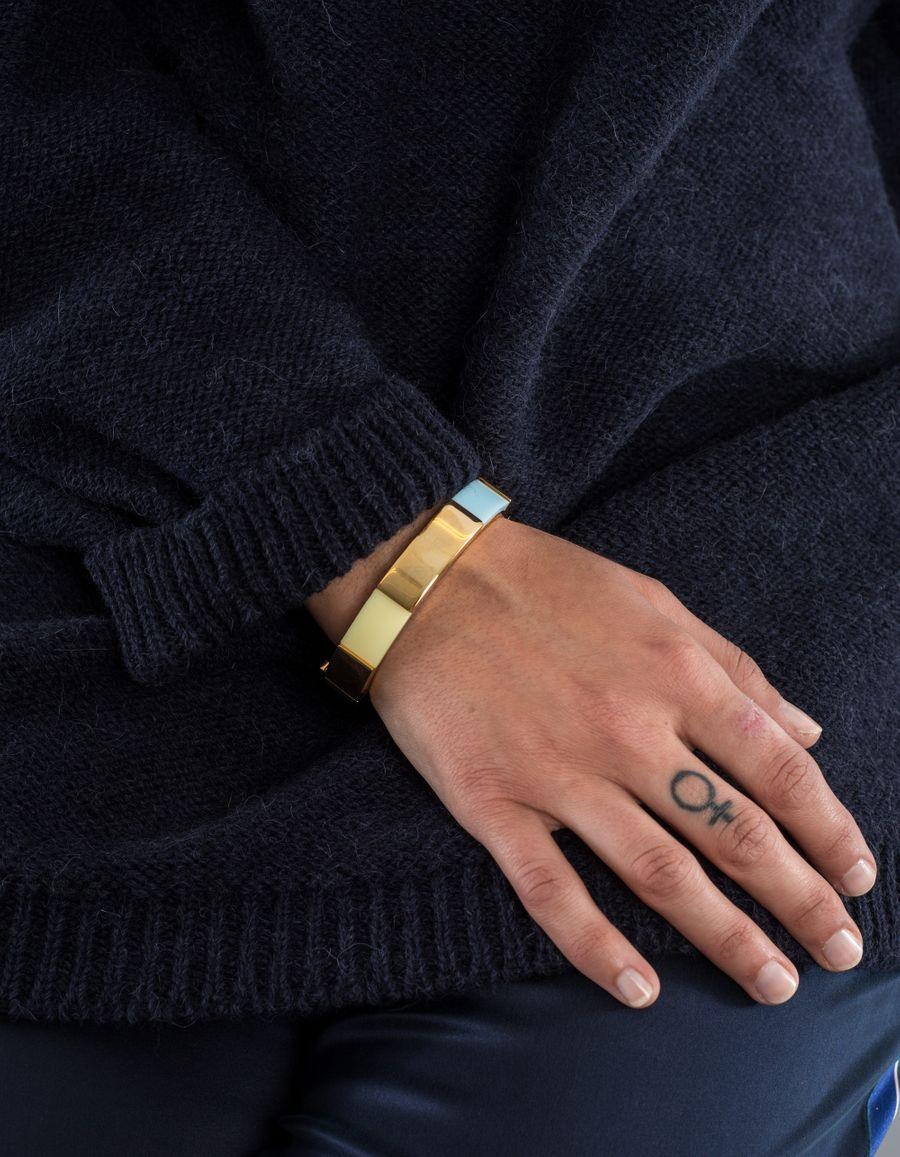 Susan Szatmáry Rome Bracelet Resin Goldpl.