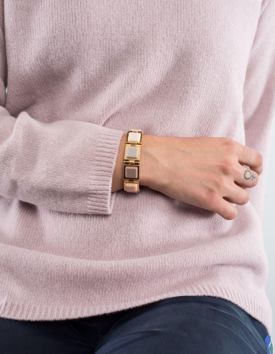 Susan Szatmáry D'Orsay Bracelet Resin Goldpl.