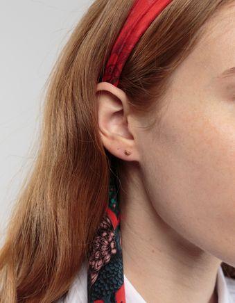Semi Stud Earring 14k Gold