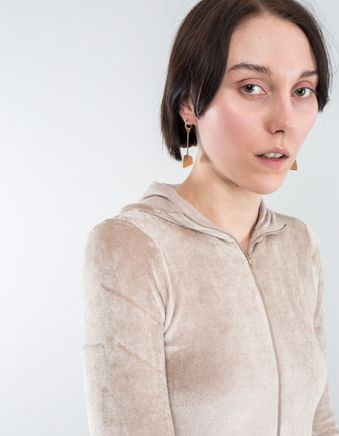 Ness Earrings Brass