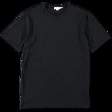 Sunspel Egyptian Cotton C-Neck T-Shirt - Black