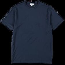 Sunspel Egyptian Cotton C-Neck T-Shirt - Navy