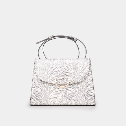 Lady D Bag Lizard Embossed