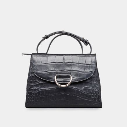 Lady D Bag Croc Embossed