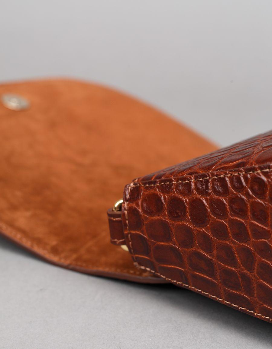 D Saddle Bag Medium Croc Emb.