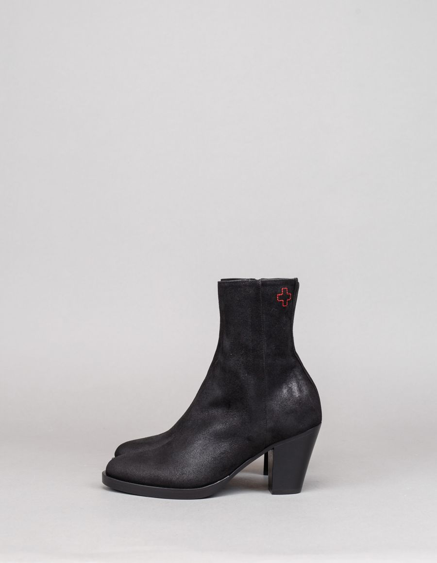 A.F.Vandevorst Classic Ankle Boot Waxed Suede