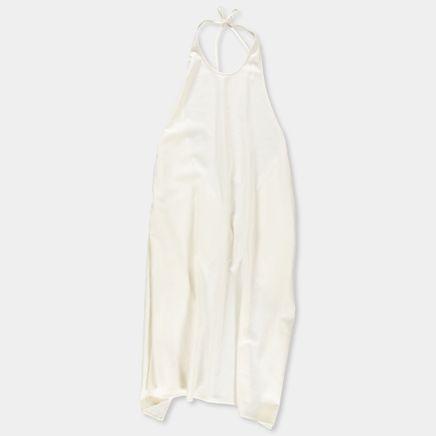 Apron Dress Raw Silk