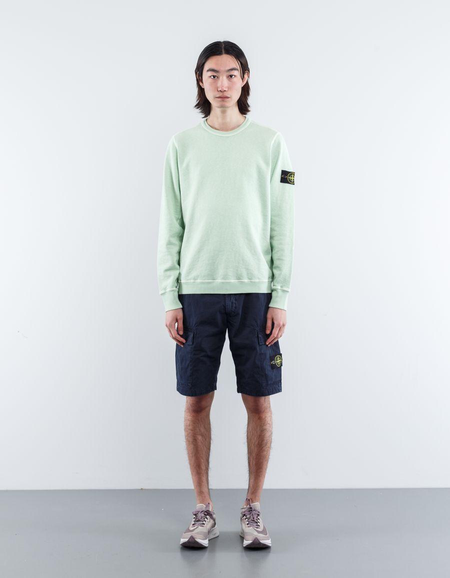 Stone Island 681565360 V0152 Garment Dyed Sweatshirt Light Green