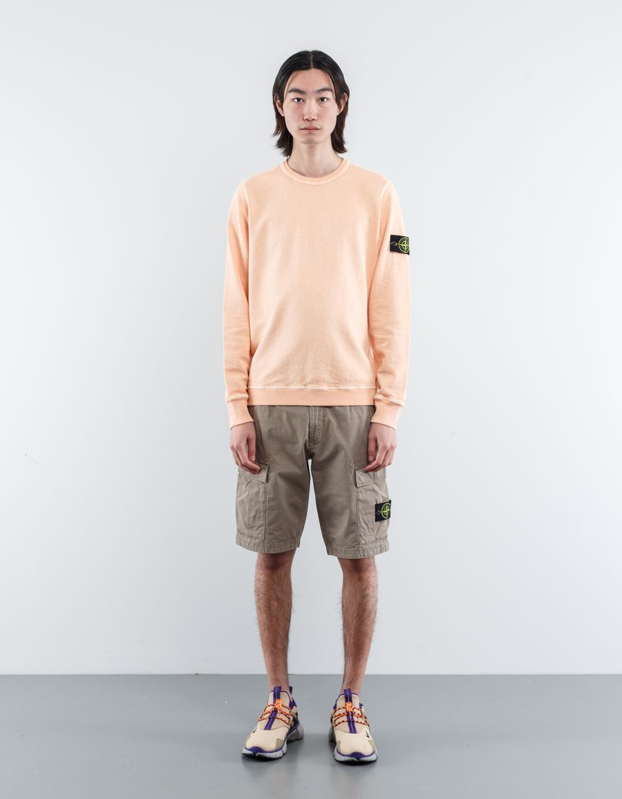 Stone Island 681565360 V0181 - Garment Dyed Sweatshirt Salmon