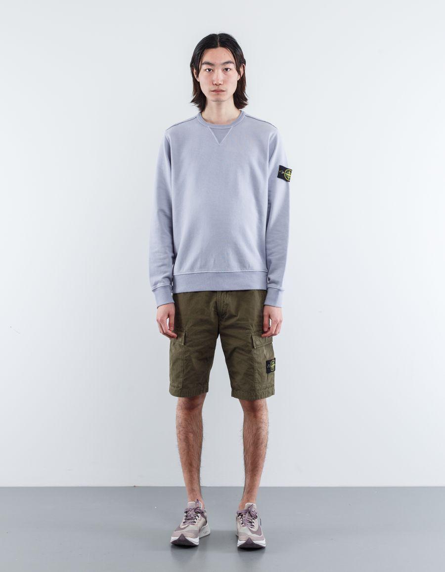 Stone Island 681562740 V0047 Classic Crew Neck Sweatshirt Lavender