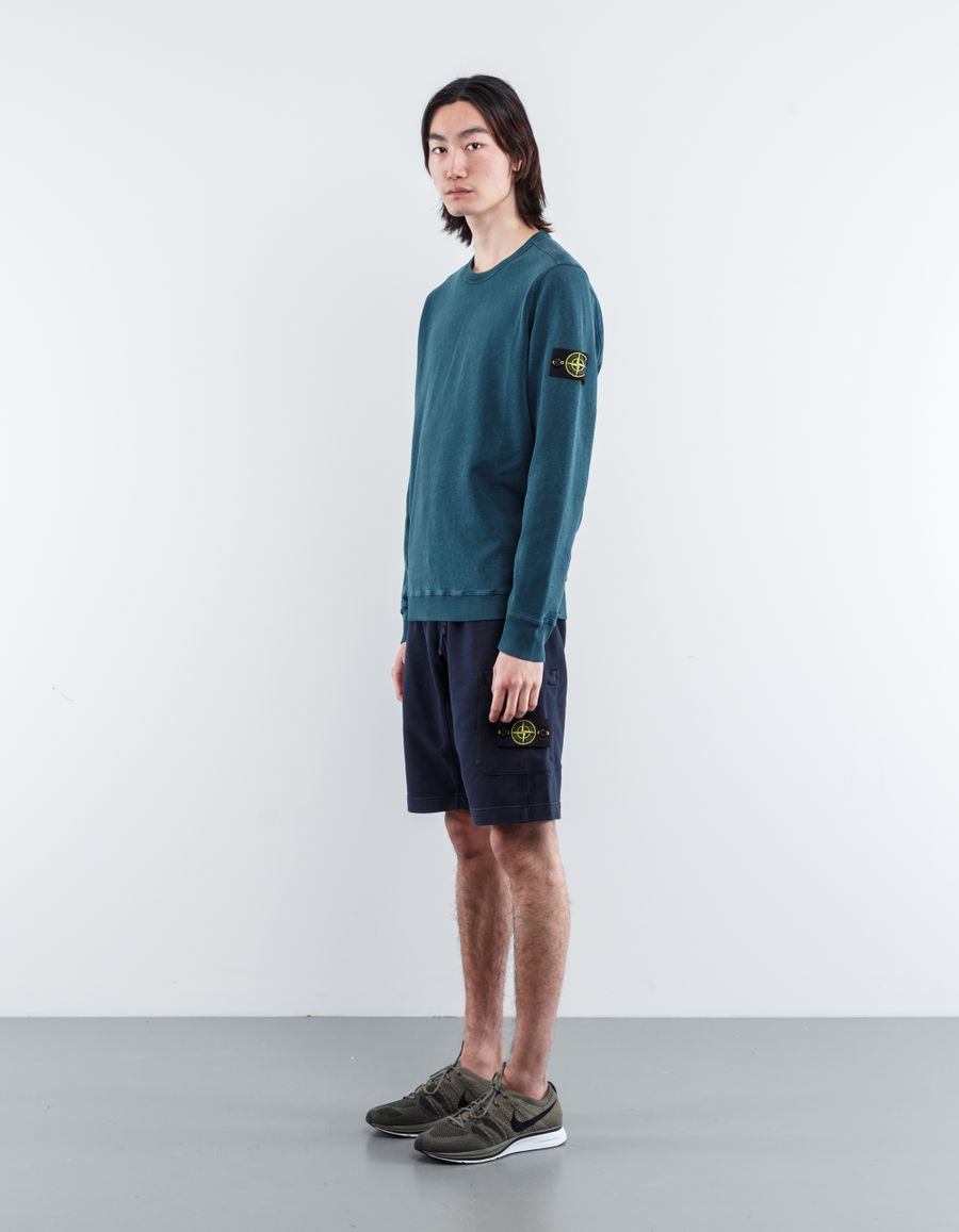 Stone Island 681560840 V0020 Fleece Bermuda Shorts Navy