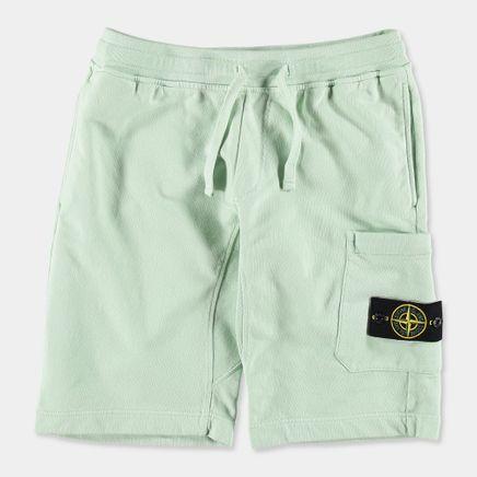 681560840 V0052 Fleece Bermuda Shorts Light Green