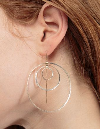 Triple Miro Hoops Gold & Silv.