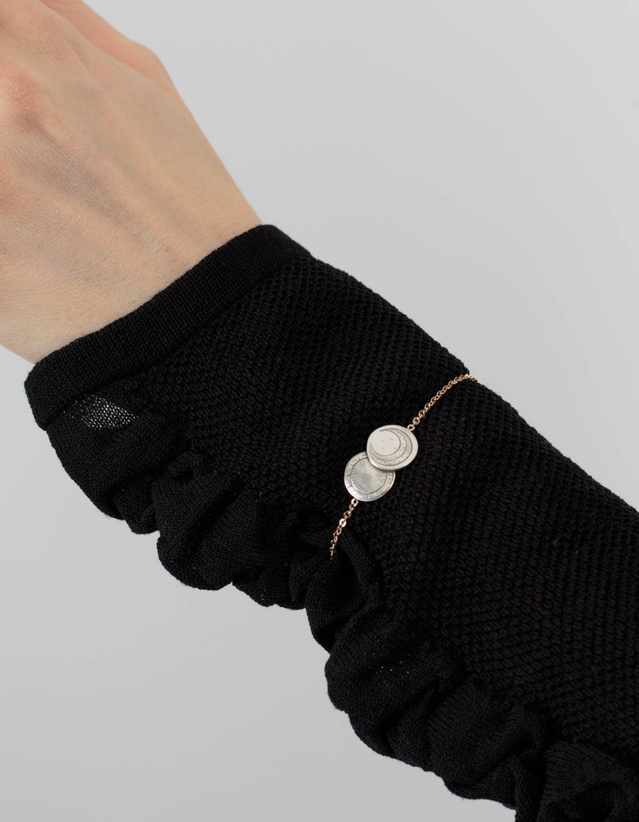 Laura Lee Astro Wheel Moon Bracelet